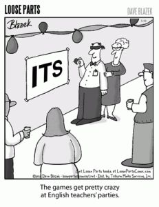 I really liked this and thought it was funny.  I feel like people have this picture of all English teacher's being dull and like they live and breathe literature and grammar.   I'm sure however there are some that could definitely argue this.   2/27/13