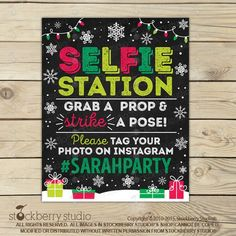 Christmas Photo Booth Sign Printable - Selfie Props - Hashtag Sign - Holiday Photobooth Sign - Selfie Station Sign - Christmas Party Signs by stockberrystudio on Etsy Christmas Photo Booth, Christmas Mom, Christmas Sweaters, Christmas Crafts, Christmas 2019, Christmas Ideas, Holiday Signs, Holiday Photos, Christmas Photos