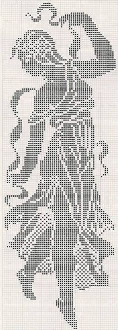 Discover (and save! Filet Crochet Charts, Crochet Diagram, Knitting Charts, Cross Stitch Charts, Cross Stitch Designs, Crochet Stitches, Cross Stitch Patterns, Knit Crochet, Cross Stitching
