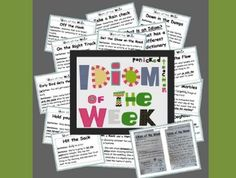 Idiom of the Week- A School Year of Idioms!~Maybe next year!