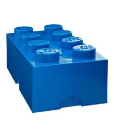 Look at this Blue LEGO 2 x 4 Storage Brick on #zulily today!