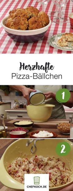 Herzhafte Pizza-Bällchen