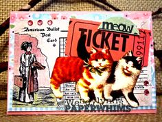Wendylynn's Paper Whims: ATC - Don't leave home without your fur!