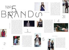 Editorial - Emerge magazine, Top five brands double page spread