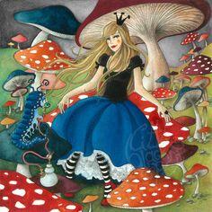 Alice in Wonderland series by Raquel Costa, via Behance