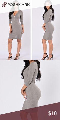 Fashionova sweater gray dress This is very adorable dress and size medium Fashion Nova Dresses Midi