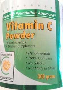 Vitamin C powder--Non-GMO, corn-free, not made in China