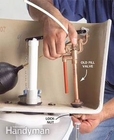 Learn how to fix broken parts of your toilet like flappers, fill valves, flush valves and handles.