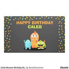 Shop Little Monster Birthday Banner Boy Chalk Confetti created by Anietillustration. First Birthday Banners, First Birthday Parties, Monster Decorations, Little Monster Birthday, Banner Backdrop, Outdoor Banners, Word Out, 1st Birthdays, Little Monsters