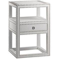 Bungalow 5 Marco White 1-Drawer Side Table