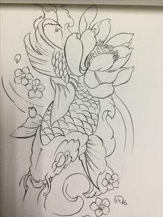 Koi Tattoo Sleeve, C Tattoo, Koi Fish Tattoo, Koi Tattoo Design, Japan Tattoo Design, Dragon Tattoo Designs, Japanese Tattoo Art, Japanese Tattoo Designs, Tattoo Sketches