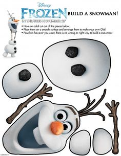 Build a Snowman Olaf Printable from Disney's Frozen