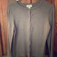 Ann Taylor Loft long sleeve gray cardigan Loft, size medium LOFT Sweaters Cardigans