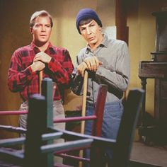 Kirk and Spock...