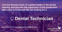 Job Description, Product Description, Dental Technician, International Jobs, Career Opportunities, Job S, Dream Job, Opportunity, Germany