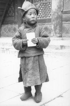 His Holiness the 14th Dalai Lama in 1939 (the year of his formal recognition as the 14th Dalai Lama) (Tenzin Gyatso; born Lhamo Dondrub, 6 July 1935).