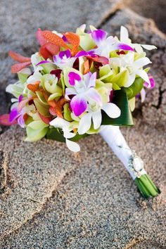 Bouquet with orchids | Big Island Hawaii Wedding | Elena Graham Photography