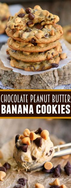 Chocolate Peanut Butter Banana Cookies