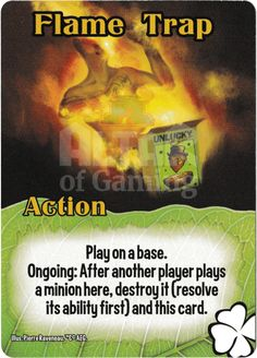 Flame Trap - Tricksters - Smash Up Card | Altar of Gaming