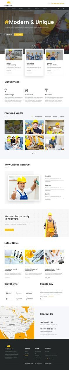Construction is a business #PSD template for construction, #building #companies website with 5 homepages option and 37 PSD pages download now➯ https://themeforest.net/item/construct-mutilconcept-construction-psd-template/16913460?ref=Datasata