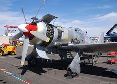 Sander Aeronautics Hawker Sea Fury T Mk.20; c/n ES.8502, N924G powered by its original Bristol Centaurus radial engine.