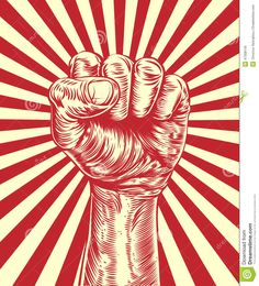 Illustration about An original illustration of a revolutionary fist held in the air in a vintage wood cut propaganda style. Illustration of clenched, power, lines - 47308145 Protest Kunst, Protest Art, Protest Posters, Propaganda Art, Indonesian Art, Mushroom Art, Arte Pop, Vintage Posters, Vector Art
