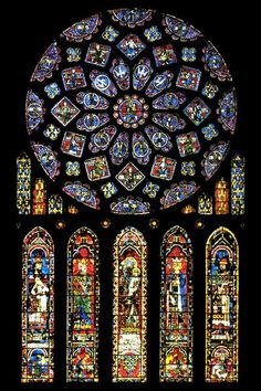 Rose window at Chartres, France.  This window was so amazing.  i have a replica hanging in my hearth room window at home.  I never wanted to forget how close to God I felt in that church.