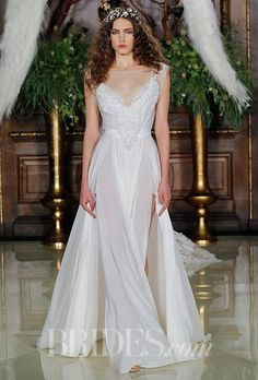 V Neck A Line Wedding Dress 2016 Spring Lace Plus Size Wedding Dreses A Line Sheer Beteau Cap Sleeves Applique Thigh High Split Side Chiffon Sweep Train Bridal Gowns Gowns For Sale From Faith_custom_made, $156.03| Dhgate.Com