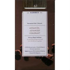 Korres Argan Oil 6.1 Μόνιμη Βαφή Ξανθό Σκούρο Σαντρέ 50ml