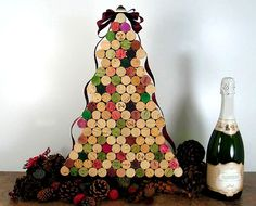 Recycled Tabletop Christmas Trees Idea !