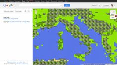 Google launches an 8-bit version of Google Maps! An early April's fool.