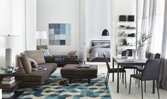 @calligaris1923 sturdy Italian furniture paired with @MGBWHome decor offers modern, classic home style.