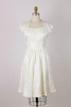 1950s vintage brocade dress. Salvage Life.