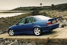 BMW E36 M3 saloon in Estoril Blue