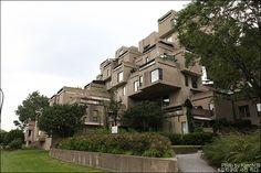 67년 몬트리얼 엑스포의 일부로 지어진 해비타트 67. 40년 전에 지어졌다고 믿기 어려운 건물
