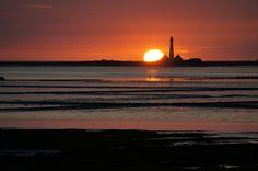 Leuchtturm Westerheversand Sonnenuntergang von Sebastian Wollscheid