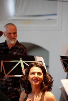 Khatia Buniatishvili in rehearsal