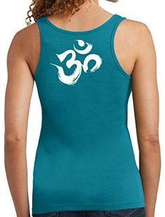 Yoga Clothing For You Ladies Brushstroke AUM Cotton Tanktop