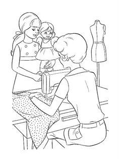 Coloring Book~Timey Tell - Bonnie Jones - Picasa Web Albums Free Kids Coloring Pages, Barbie Coloring Pages, Coloring Pages To Print, Coloring Book Pages, Coloring Pages For Kids, Human Drawing, Line Drawing, Vintage Coloring Books, Black Art Painting
