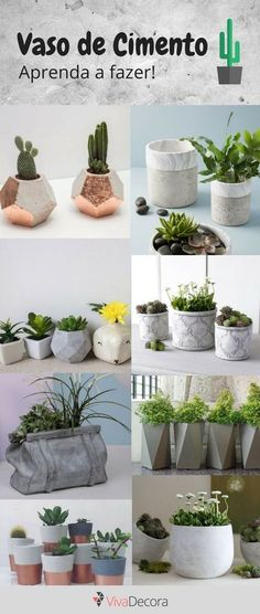 Discover recipes, home ideas, style inspiration and other ideas to try. Concrete Pots, Concrete Crafts, Concrete Projects, Concrete Design, Concrete Planters, Diy Planters, Stone Art Painting, Beton Diy, Plant Holders