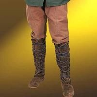 Cotton Locksley Pants from the legends of Sherwood. Made of durable, heavy cotton, they have the same period as the Robin of Locksley Gambeson and Boots. Medieval Pants, Medieval Costume, Renaissance Clothing, Medieval Fashion, Narnia Costumes, Men In Kilts, Brown Pants, Cotton Pants, Leg Warmers