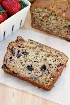 Blueberry Strawberry Banana Bread - Whats Cooking Love?