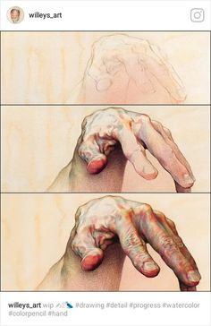 It is not easy drawing hands but it's so beautiful when it's done. Great artwork by - - - Figure Drawing, Painting & Drawing, Hand Kunst, Dossier Photo, Poses References, Arte Sketchbook, 3d Drawings, Anatomy Art, Anatomy Drawing