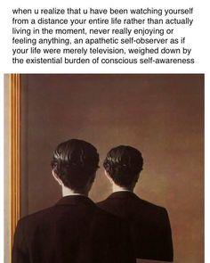 Psychology Memes, Classical Art Memes, Self Awareness, Funny Relatable Memes, In This Moment, Humor, Feelings, Words, Instagram Posts