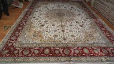 10' x 14' Handmade Hand-knotted 200 kpsi Silk Oriental Persian Tabriz Rug 811