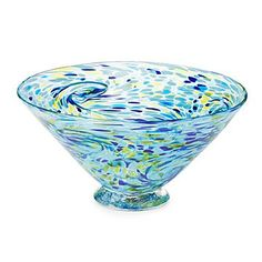 Evocative of Van Gogh's Starry Night, this handmade bowl features swirls of color. Chip And Dip Sets, Glass Candy, Home Design Decor, Bar Accessories, Unusual Gifts, Kitchen Colors, Bars For Home, Thoughtful Gifts, Van Gogh