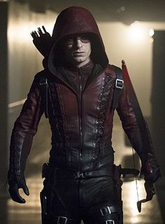 Get a Red Hooded Arrow Arsenal jacket for sale. This Roy Harper jacket for sale at discounted price at our online store fit jackets Arsenal Arrow, Team Arrow, Arrow Tv, Oliver Queen Arrow, Roy Harper, Leather Jacket With Hood, Colton Haynes, Dc Movies, Comic Movies