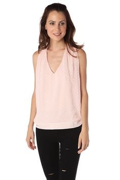 Pink Polka Dot Top With Racer Back