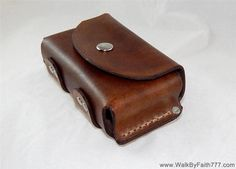 Leather belt pouch for Altoids tin, hiking camping backpack bushcraft survival #WalkByFaith777