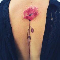 Poppy  #poppy #poppytattoo #redtattoo #flowertattoo #planttattoo  #botanicaltattoo